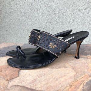 Manolo Blahnik slide sandal heels